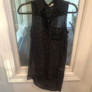 Sheer leopard tunic -perfect over tank & leggings